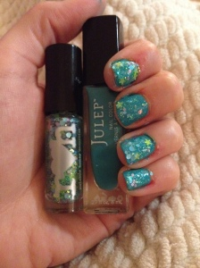 Viridis over Julep's Lissa. I feel like a mermaid. (With bad cuticle, sorry.)
