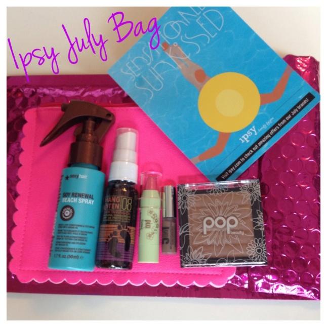 Beach Spray, Hang 10 Tanning Oi, Pixi Lip Balm, BareMinerals 5-in-1 Cream Eyeshdaow and Pop Bronzer