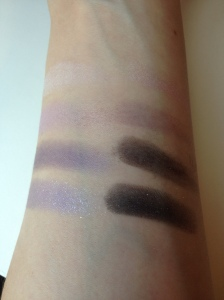 My skin likes to absorb pastel colors as you can see on the top swatches.