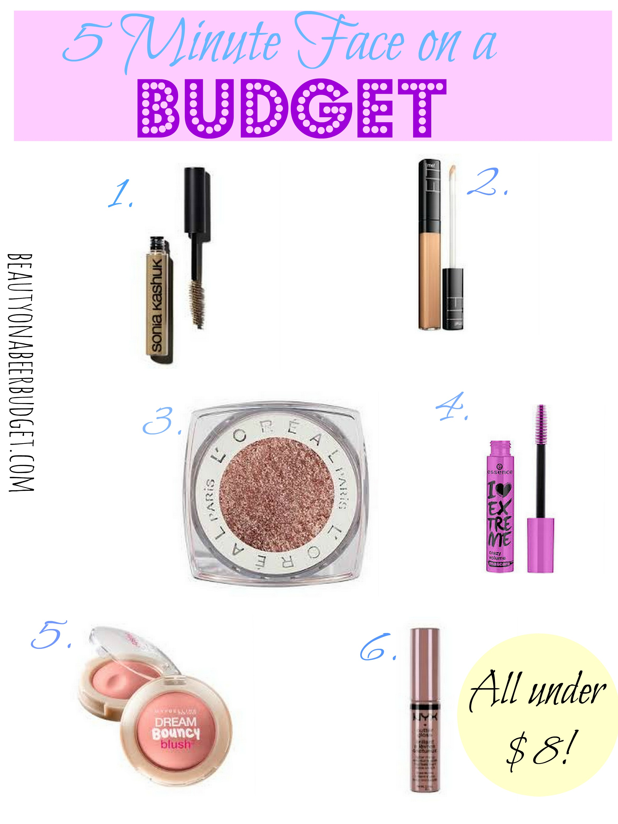 5 Minute Face Drugstore Edition Beauty On A Beer Budget