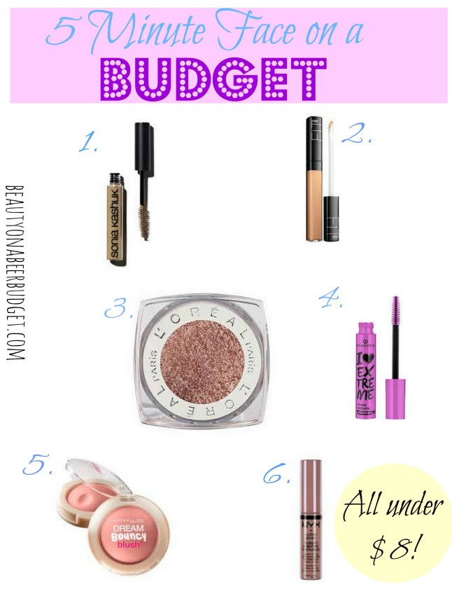 5 Minute Face on a Budget