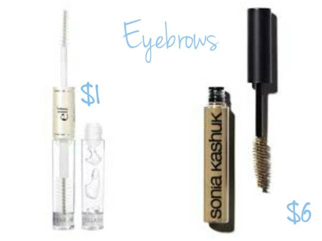 e.l.f. Brow Gel and Sonia Kashuk Tinted Brow Gel
