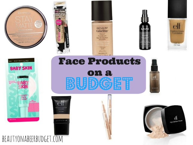 The best makeup products for your face-on a budget!