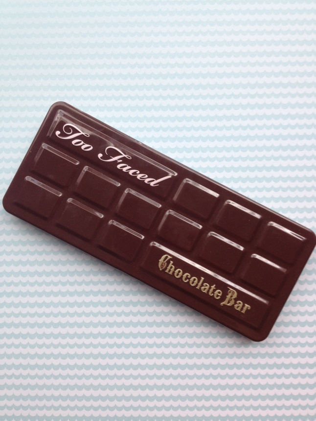 Too Faced Chocolate Bar Palette. I am hungry just looking at it.