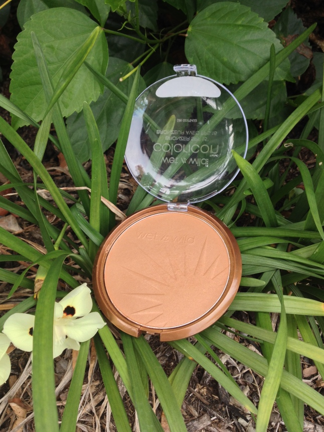 Wet N Wild's Ticket to Brazil Bronzer, just hanging out in the flower bed. As bronzers do.