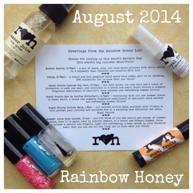 Rainbow Honey August