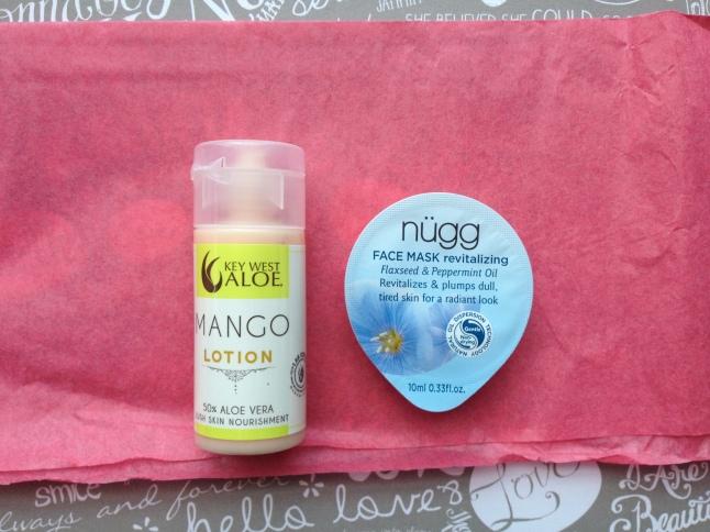 Key West Aloe Mango Moisturizing Lotion and Nugg Beauty Revitalizing Mask