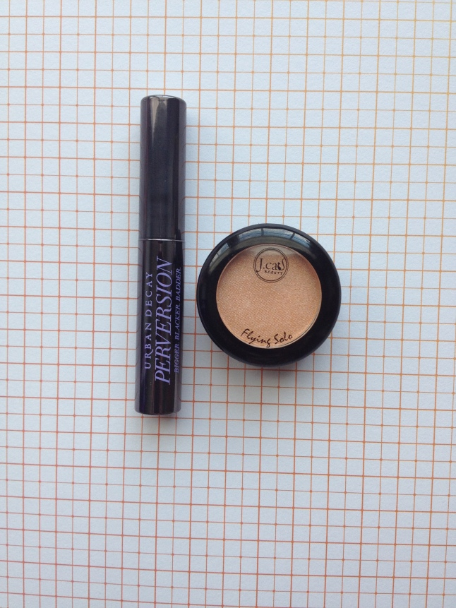 Urban Decay Peversion Mascara and J. Cat Flying Solo Eyeshadow