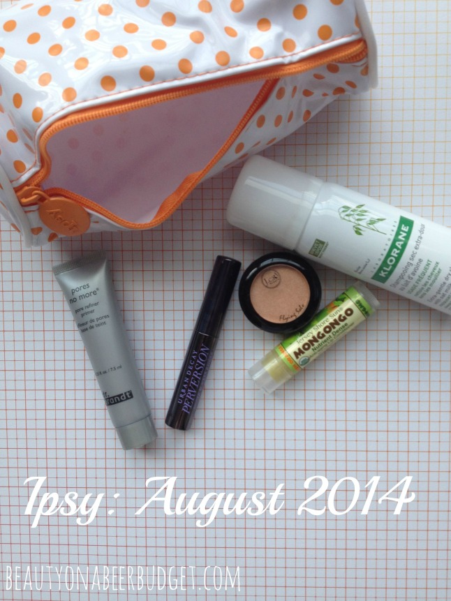 ipsy august 2014 bag