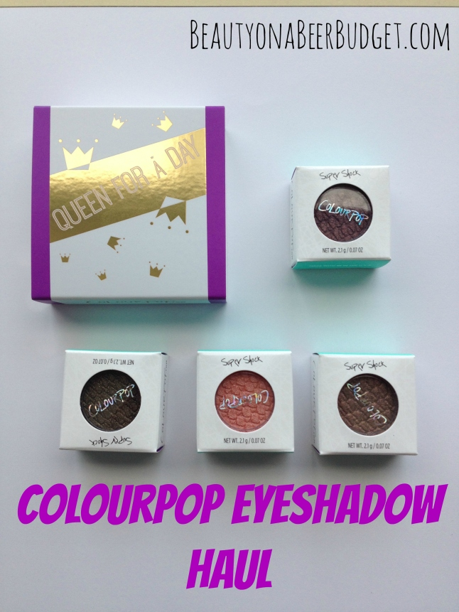 ColourPop Eye Shadow: Fall Shades