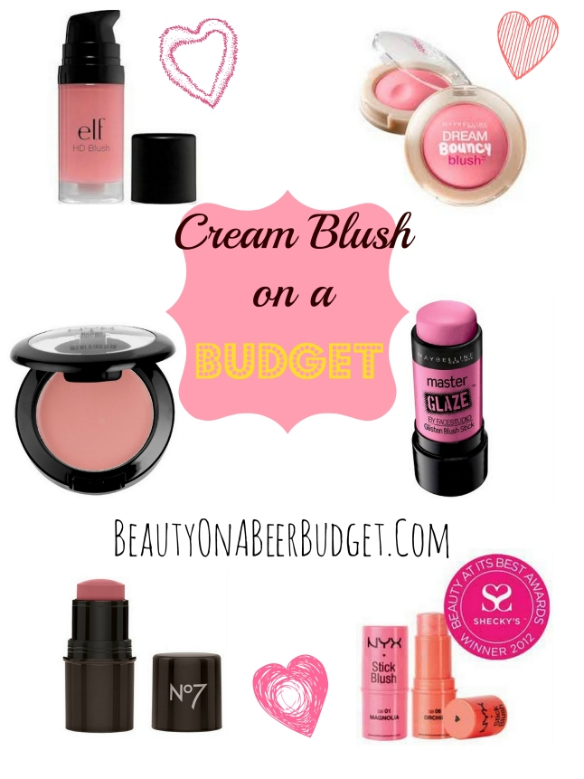Cream Blush on a Budget