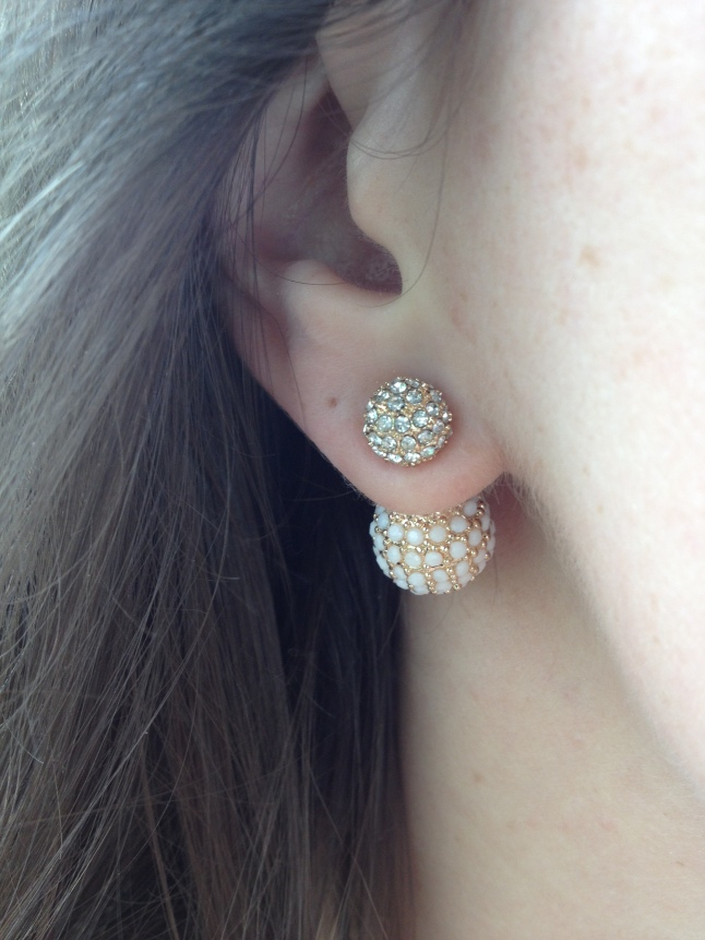 The Adelle earrings in action.