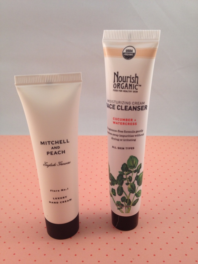 Mitchell and Peach Hand Cream and Nourish Organic Moisturizing Face Wash