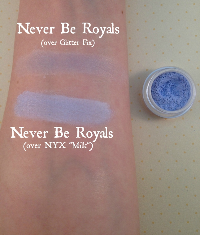 never be royals swatch Glamour Doll Eyes