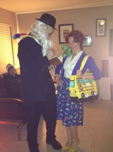 Shout out: 2012 Ms. Frizzle costume! (With Mr. Danger as Darwin-don't ask)