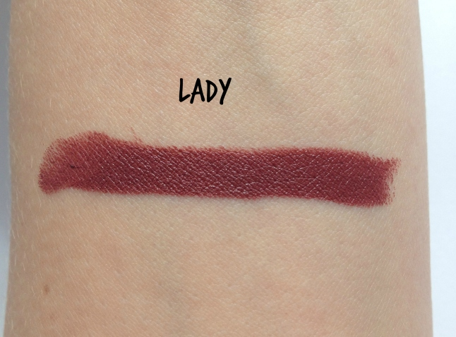 colourpop lady swatch