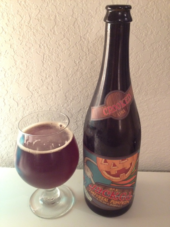 Uinta Crooked Line Oak Jacked Imperial Pumpkin Ale