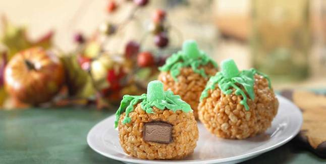 http://www.ricekrispies.com/recipes You are going to need a recipe after you wear this.