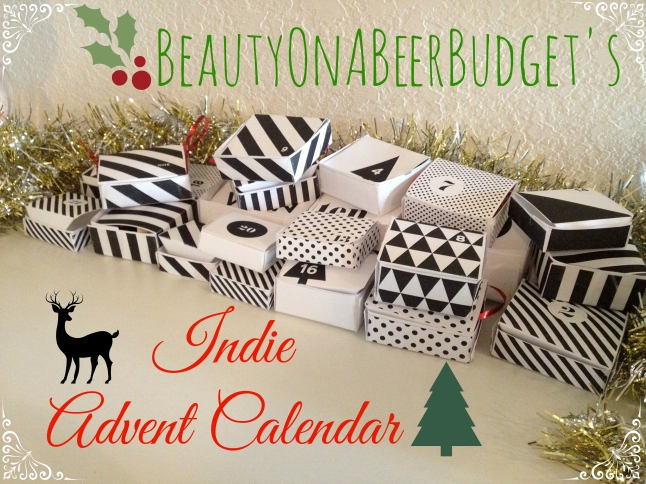 beautyonabeerbudgets indie advent calender