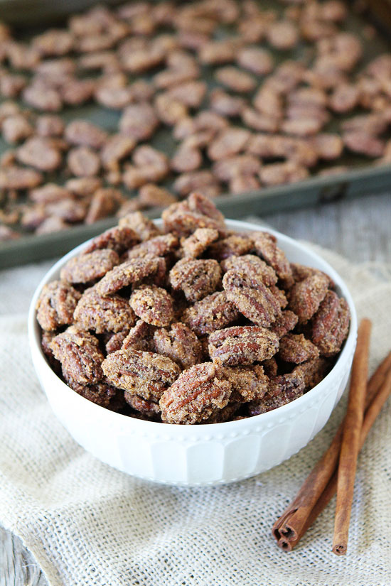 This picture is from TwoPeasAndTheirPod.com, I've actually made this recipe and it's amazing. Definitely check it out: http://www.twopeasandtheirpod.com/candied-pecans/