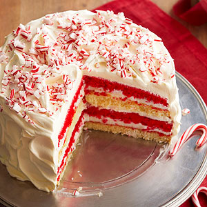 Peppermint Dream Cake from Better Homes and Gardens: http://www.bhg.com/recipe/peppermint-dream-cake/