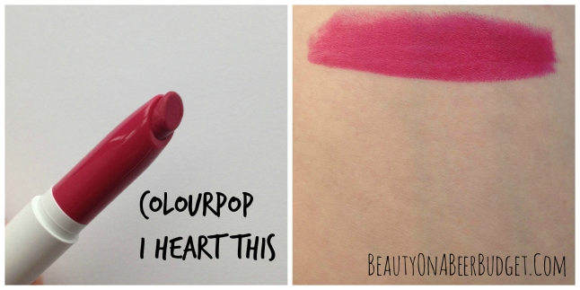 colourpop I Heart This swatch
