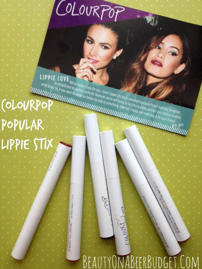 colourpop popular lippie stix