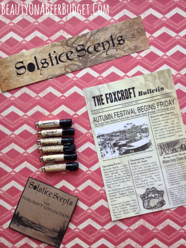 solstice scents foxcroft collection