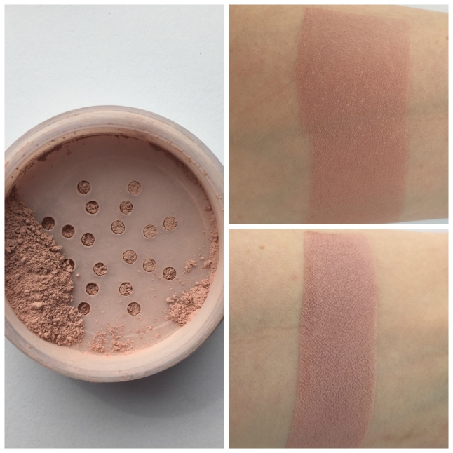 swatch on top I attempted to blend out, swatch on bottom is over primer