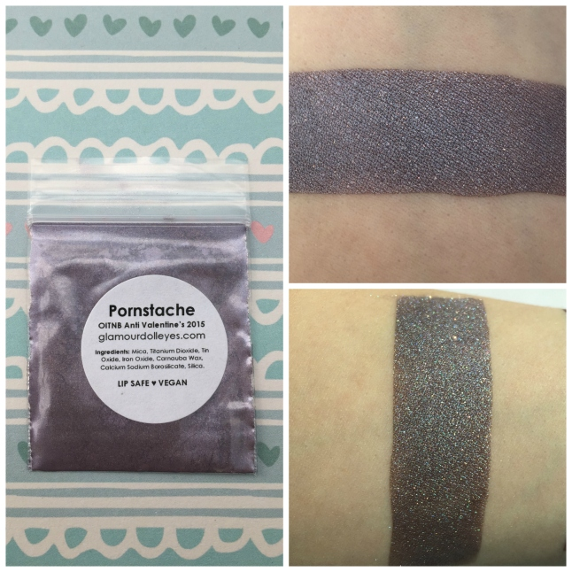Swatch on top taken in lightbox, swatch on bottom in direct sunlight. Cause it's all about that glitter.