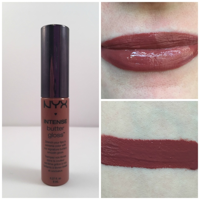 nyx chocolate crepe intense butter lipgloss