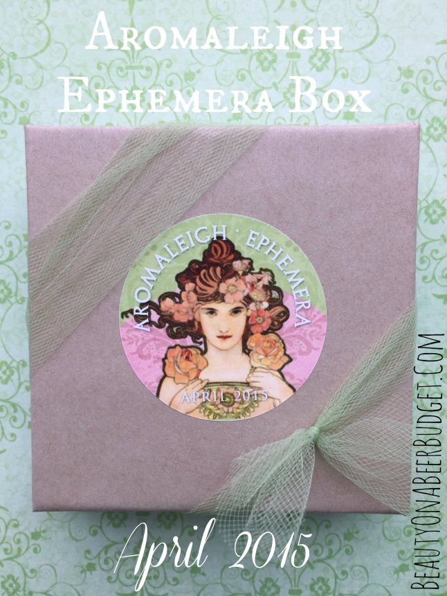 aromaleigh ephemera box april 2015