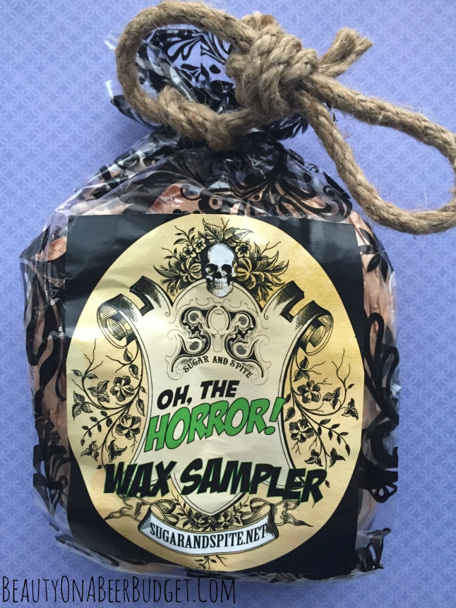 sugar and spite oh the horror wax sampler