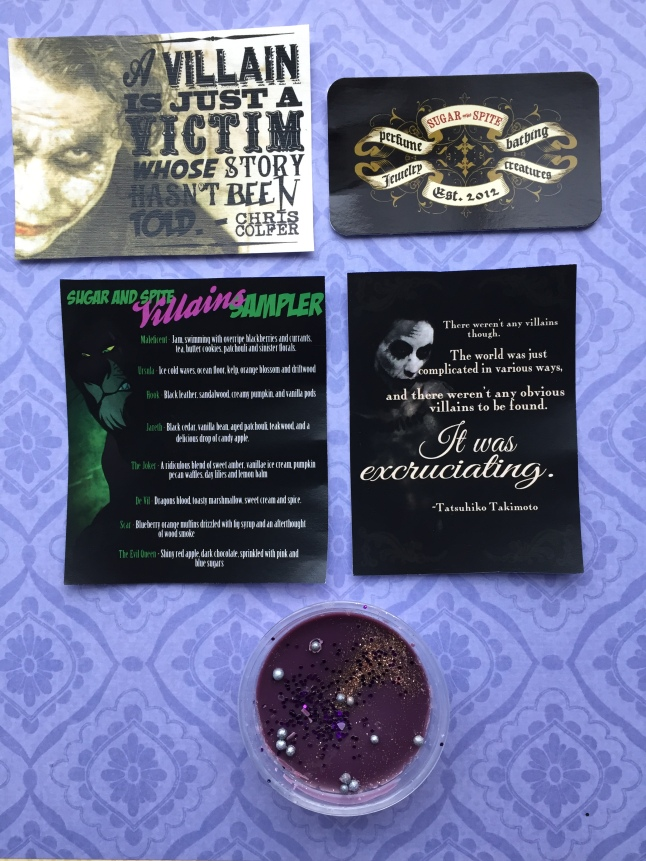 Sugar and Spite Villains Tart Info