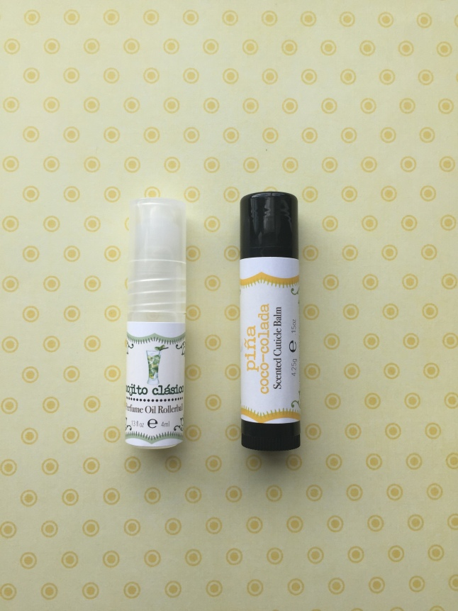 Rainbow Honey Mojto Perfume and Pina Coco-Colada Cuticle Balm