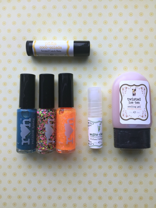 rainbow honey mystery bag may 2015 goodies