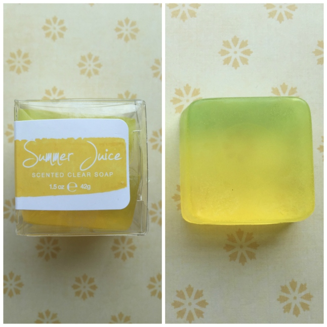 Scented Clear Soap Rainbow Honey Summer Juice