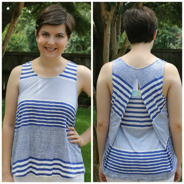 Skies Are Blue Loni Open Back Detail Knit Tank