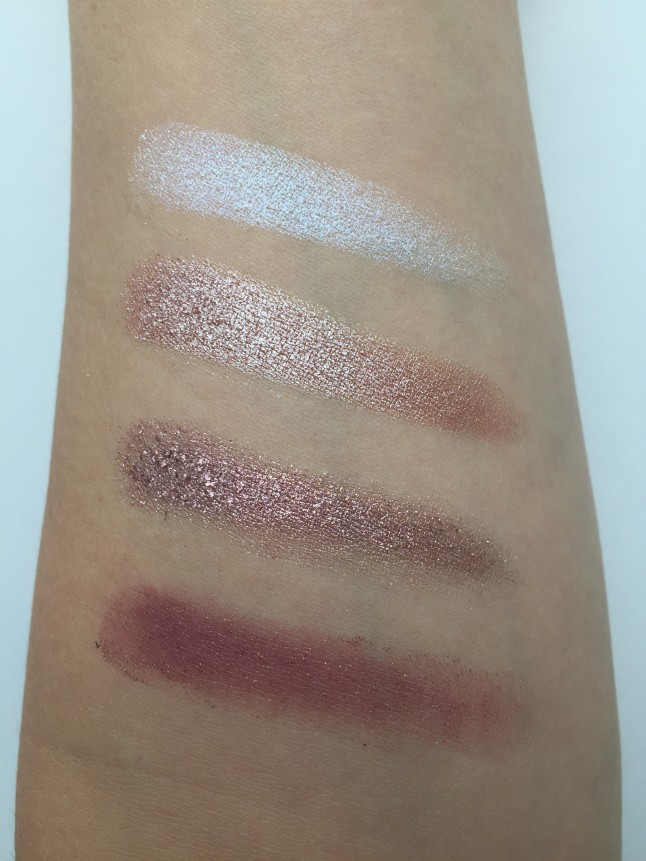 Glamour Doll Eyes Pressed Quad Swatches